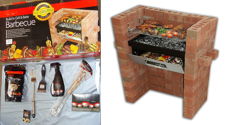 Der original Bar-Be-Quick Build In Grill & Bake + Starter Pack bestehend of-Feueranzünder, 3 Stück Küchenzubehör-Set, Grill-Bürste, Grillgabel, Hickory Smoking Chips + Grillreiniger! jetzt bestellen