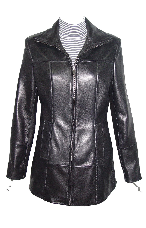 Nettailor WoHerren 4180 weich Lammskin Leder einfach leicht l?ssig JackeRei?verschluss Front jetzt kaufen