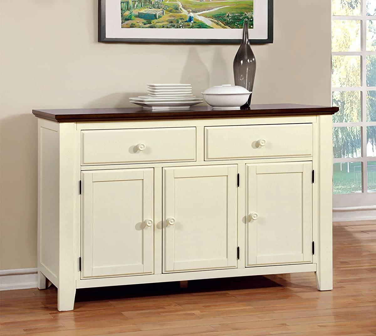 Furniture Of America Pauline Cottage Style Dining Buffet