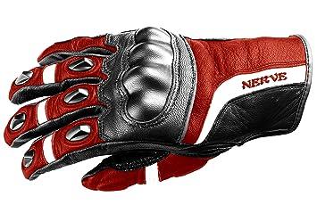 NERVE 31140401_05  KQ12 Gants Moto, Noir-Rouge, Taille XL/11