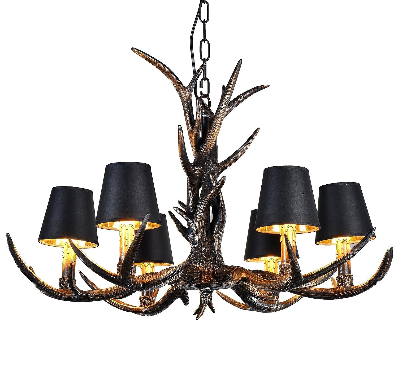 effort inc antlers vintage stil harz 6 licht kronleuchter amerikanische l ndliche landschaft. Black Bedroom Furniture Sets. Home Design Ideas