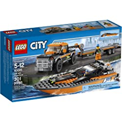 LEGO City Great Vehicles 4x4 with Powerboat