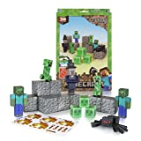 Minecraft Papercraft Hostile Mobs Set, Over 30 Piece (Color: Multi-colored, Tamaño: One Size)