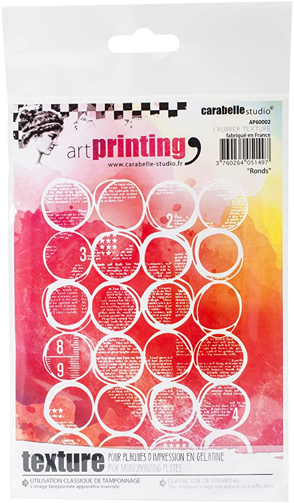Carabelle Studio AP60002 Art Printing A6 Rubber Texture Plate, Rounds (Color: Rounds)
