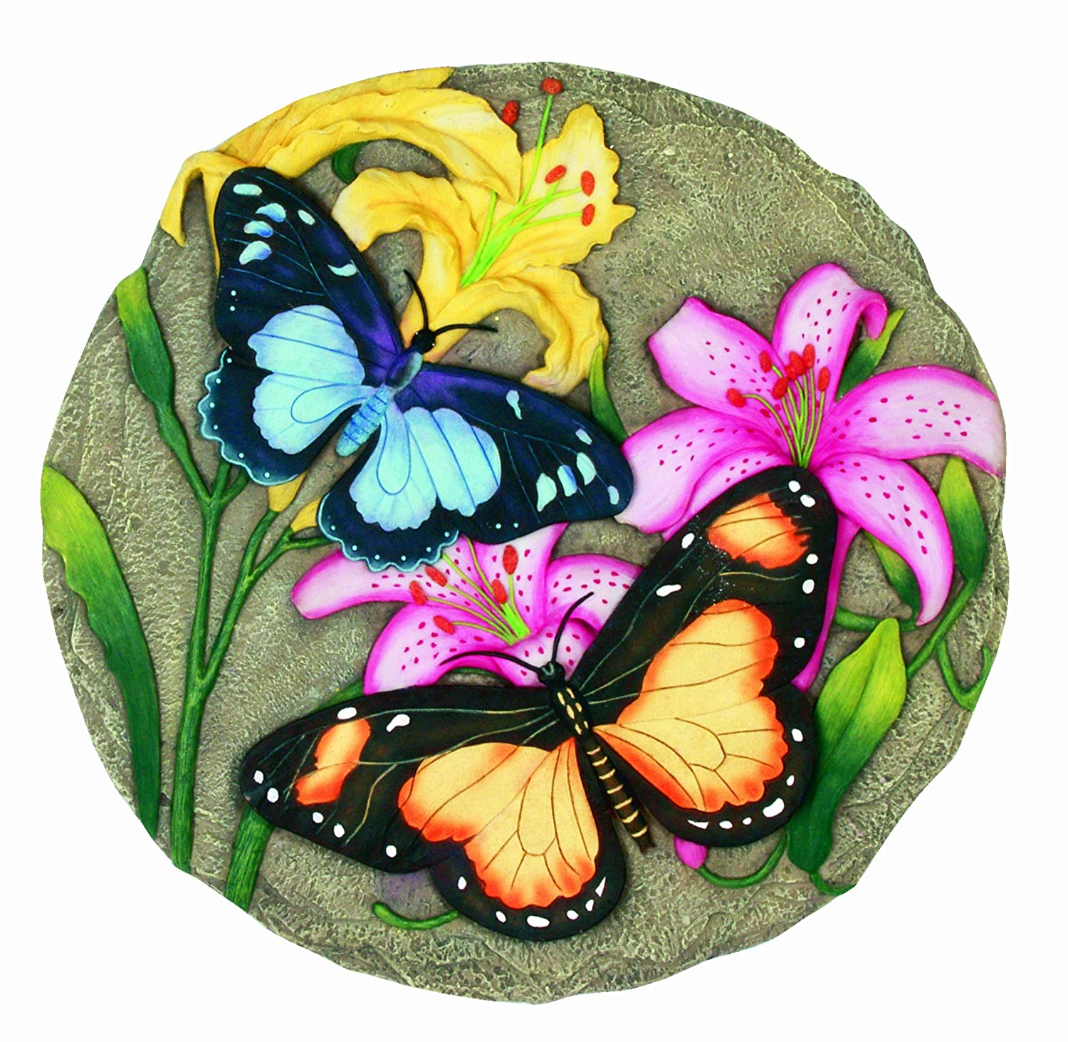 Painted Garden Stones: Spoontiques Butterfly With Flowers Stepping Stone , New