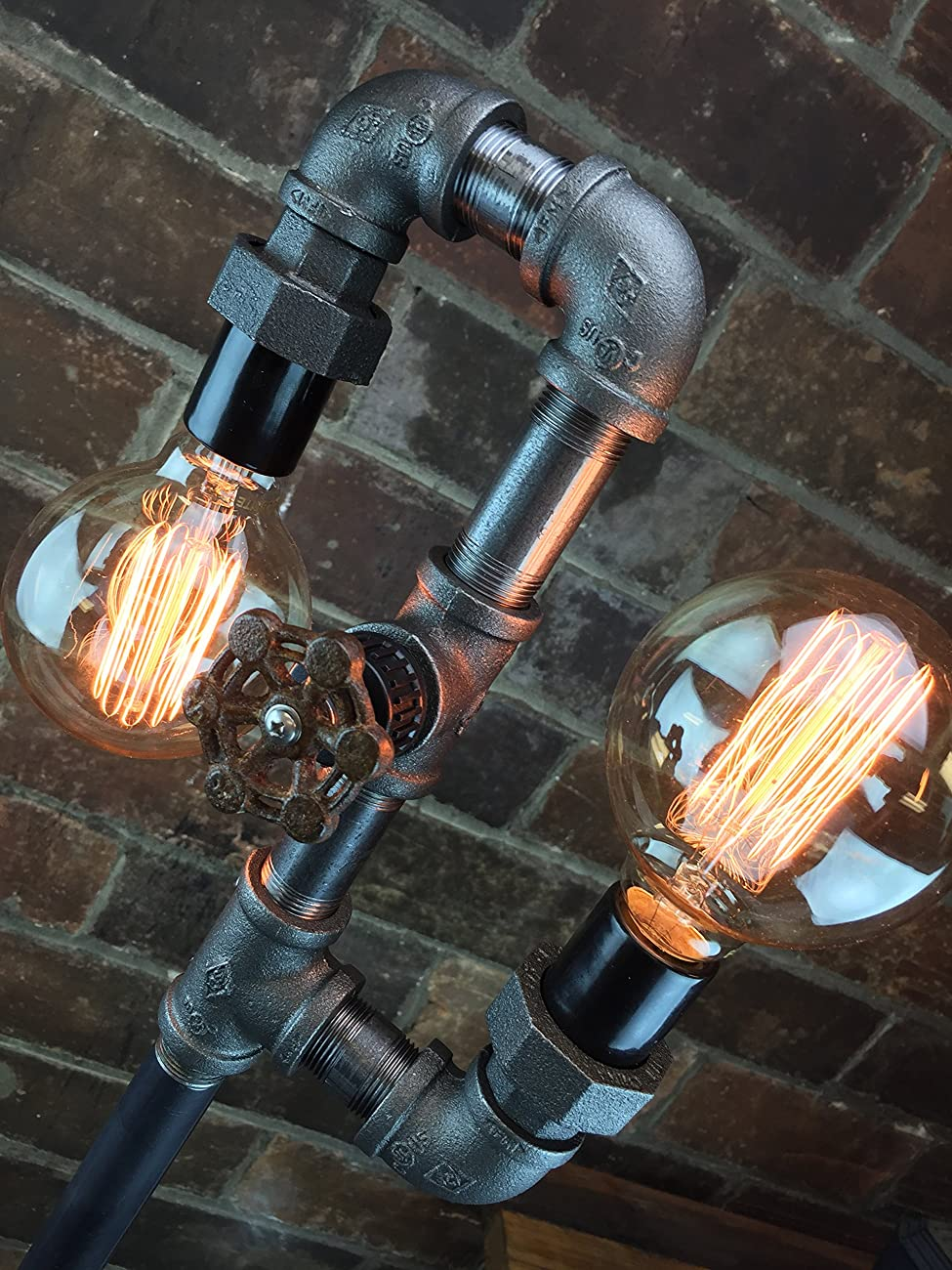 Industrial Style Floor Lamp - Multi Bulb Edison Floor Lamp 2