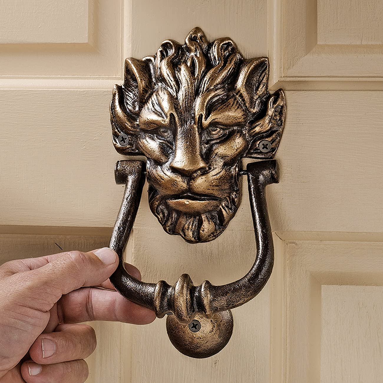 Design Toscano 10 Downing Street Lion Authentic Foundry Door Knocker 2
