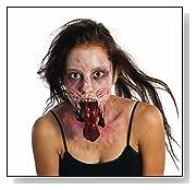 Unisex The Walking Dead Split Jaw Latex Mask