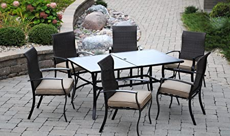 Outdoor Innovations Island Park 7 Piece Aluminum Dining Set