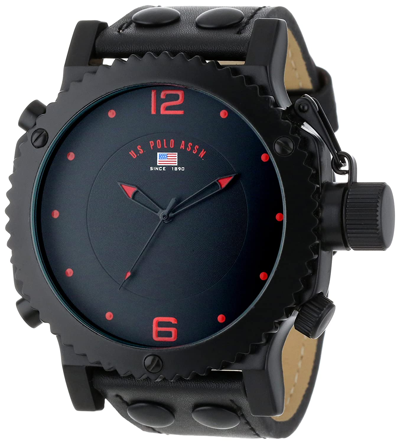 u s polo assn sport men s us8203 gunmetal tone watch amazon in u s polo assn classic mens us4023 watch black leather band