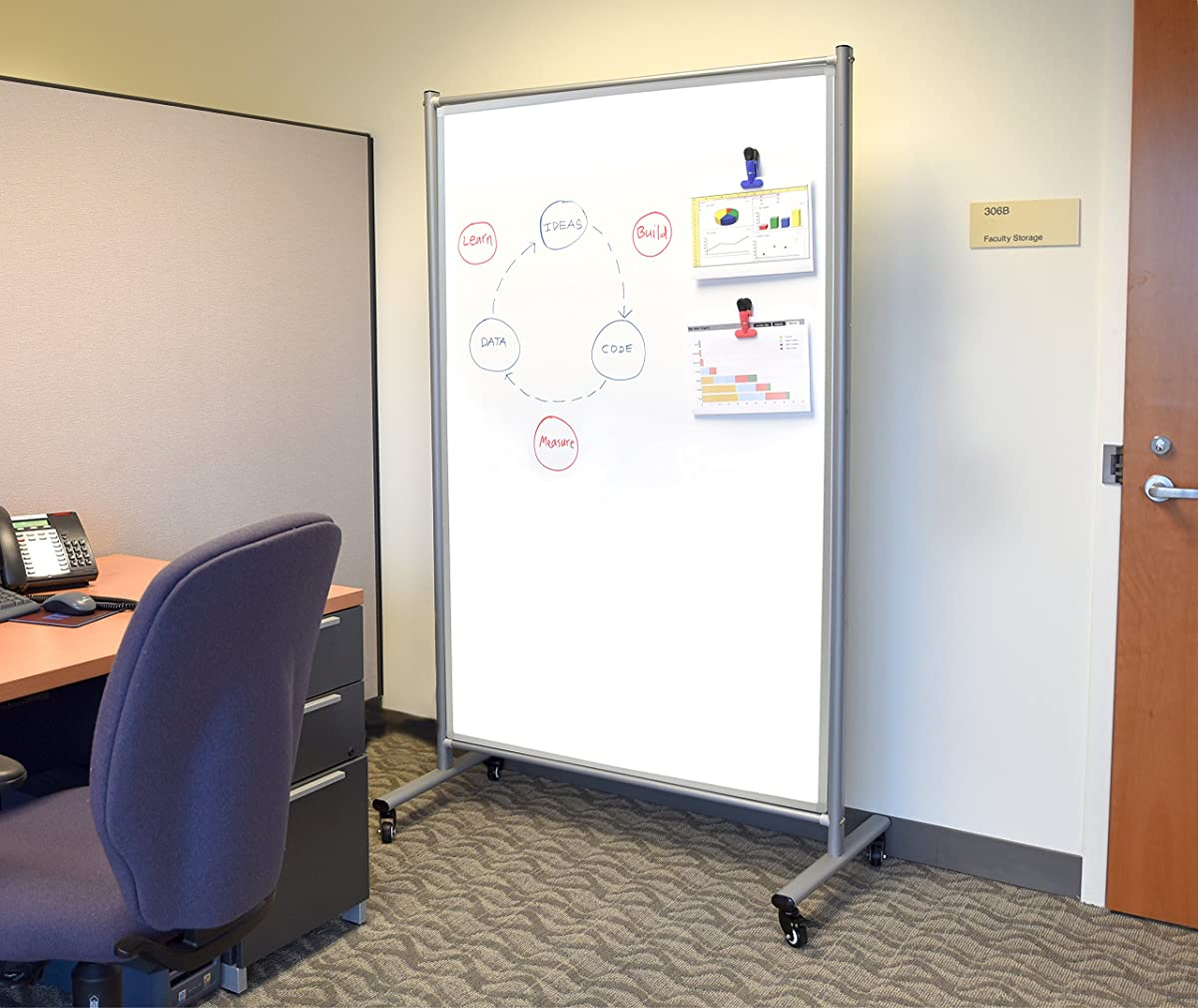 Mobile Magnetic Whiteboard Room Divider (1)