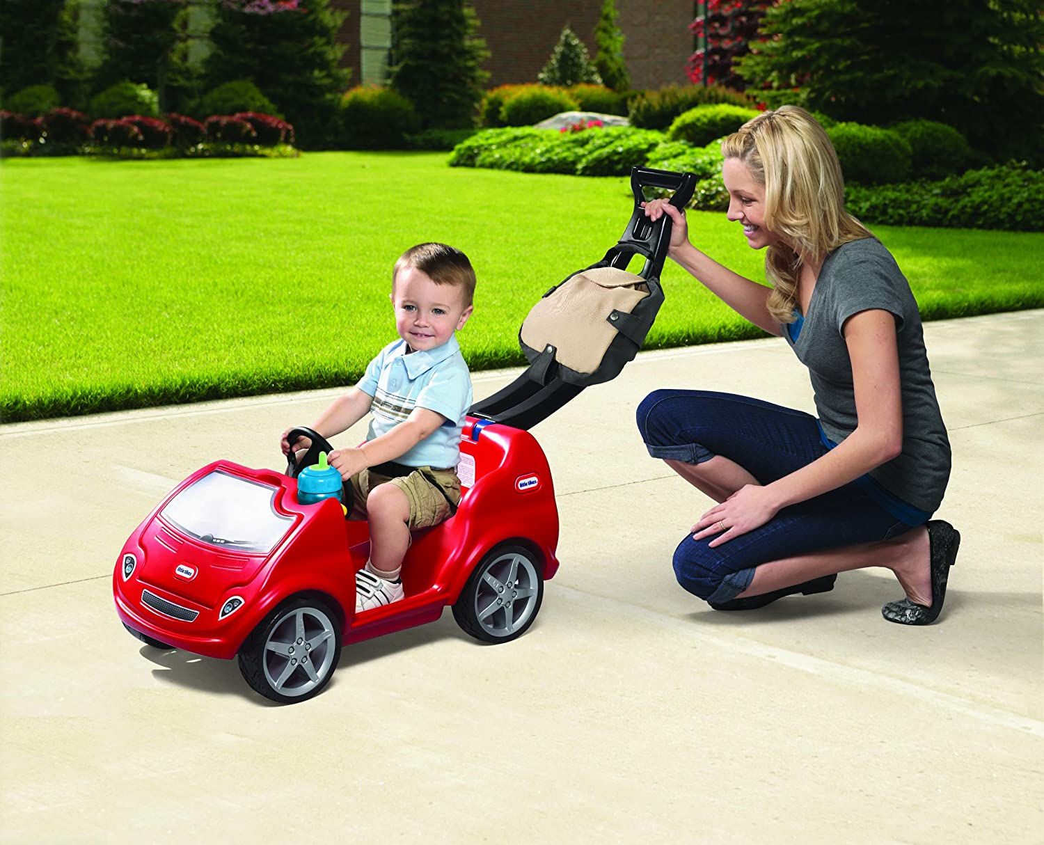 An Image of Little Tikes-Mobile Ride-On Push Car, Red