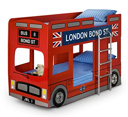 Julian Bowen London Bus Single Bunk Bed, Red