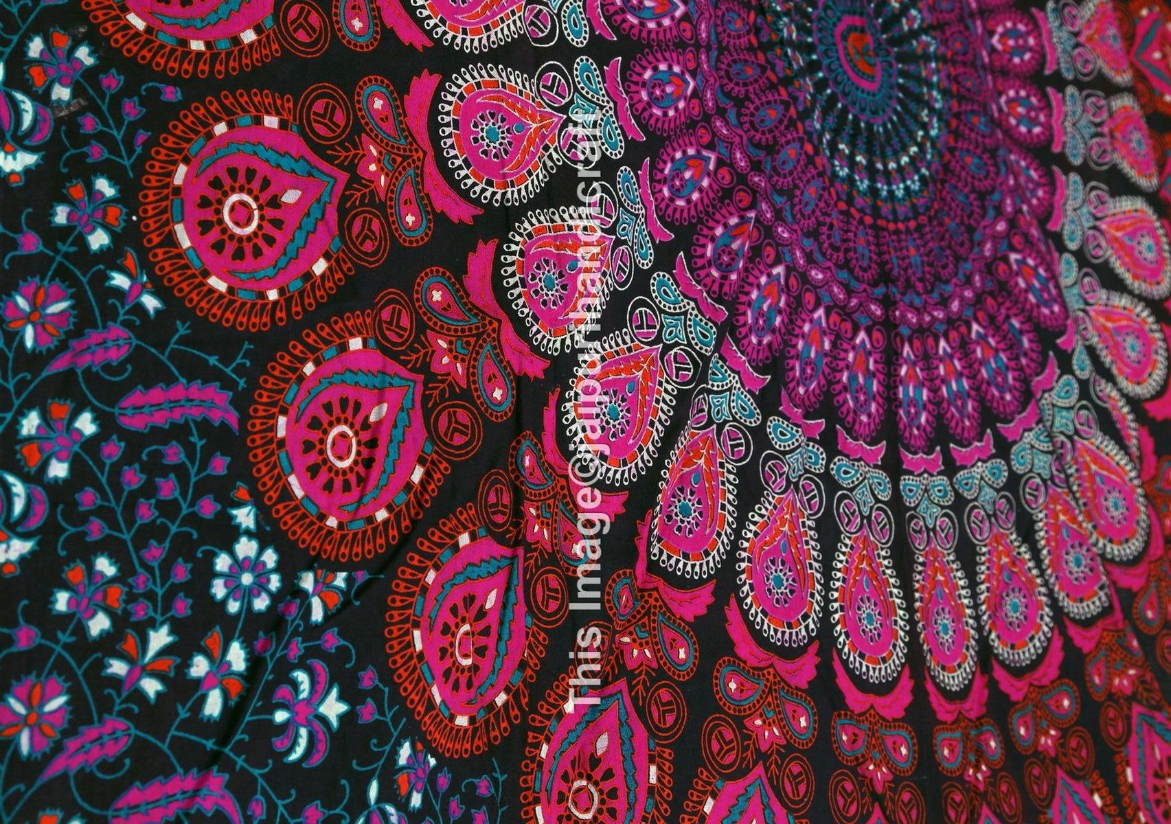 Wall Hanging Art Deco Tapestry : Mandala bohemian tapestry wall hanging psychedelic