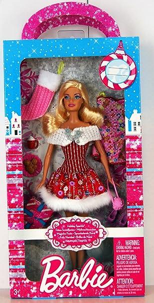 Barbie - X4855 - Holiday Sparkle / Fêtes Scintillantes - Barbie avec beaucoup d'accessoires