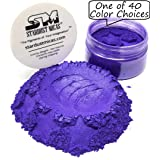 Purple Pigment Powder for Resin, Wood Inlay Powder, Metallic Pigment Powder Color for Resin, Cosmetic Grade Mica Powder for Soap Making, Stable Mica Powder Stardust Micas (Deeper Purple, 36 Gram Jar) (Color: Deeper Purple, Tamaño: 36 Gram Jar)