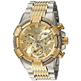 Invicta Men's 'Bolt' Quartz Stainless Steel Casual Watch, Color:Two Tone (Model: 25864)