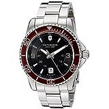 Victorinox Men's 'Maverick' Swiss Quartz Stainless Steel Watch, Color:Silver-Toned (Model: 249108)