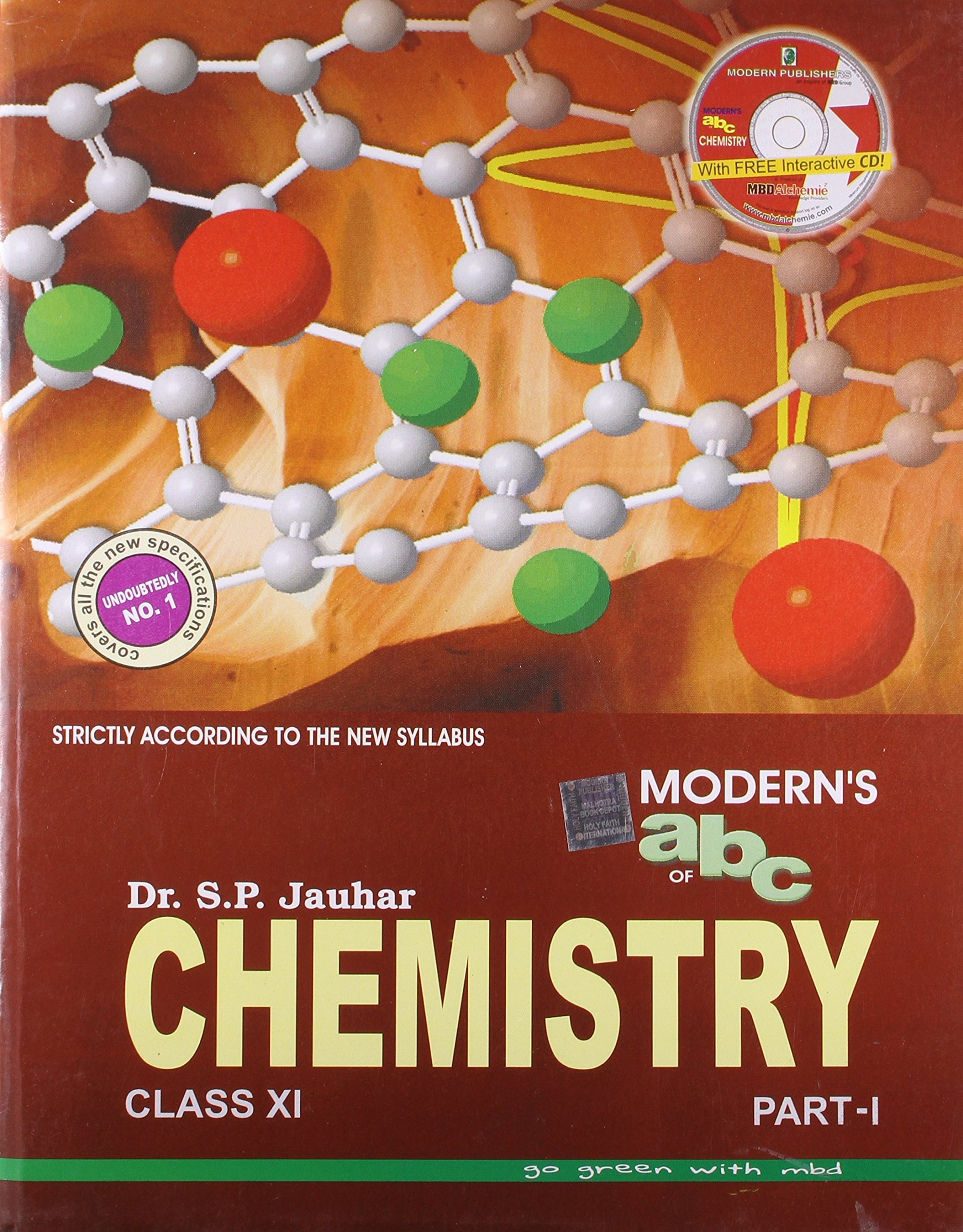 Moderns abc of chemistry for class xi set of 2 parts with cd