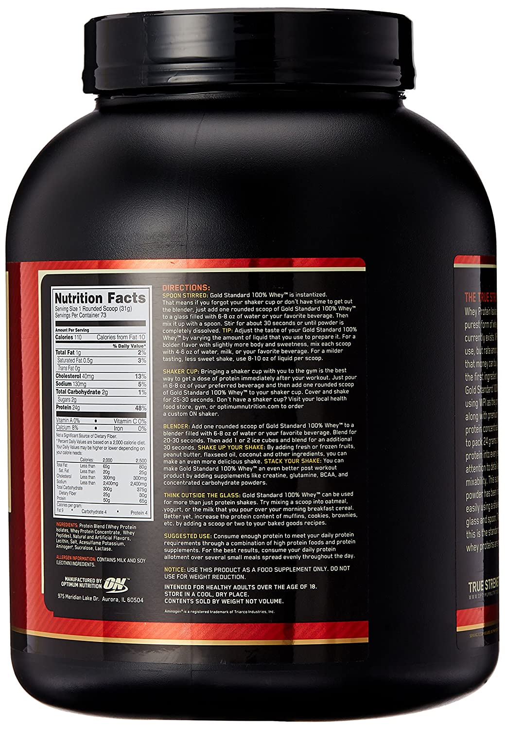 ON Whey Gold Standard - 5 lb French Vanilla Creme