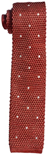 J. Press Silk Dot Knit Tie TROVGM0311: Red