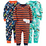 Simple Joys by Carter's Baby Boys' Toddler 3-Pack Snug Fit Footless Cotton Pajamas, Dogs/Space/Rhino, 3T (Color: Dogs/Space/Rhino, Tamaño: 3T)