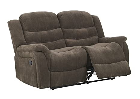 Global Furniture Reclining Loveseat, Vegas Raisin