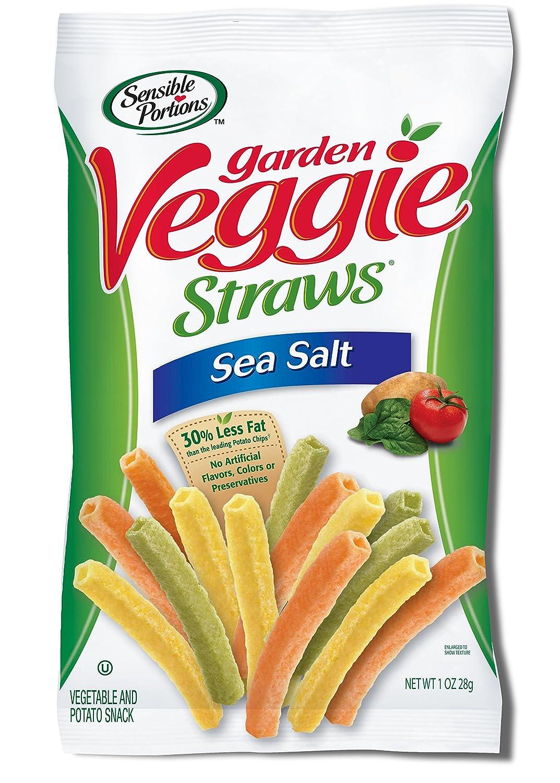 Sensible Portions Garden Veggie Straws, Sea Salt, 1 Ounce
