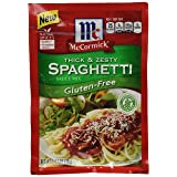 McCormick Gluten Free Thick And Zesty Spaghetti Seasoning, 1.37 oz (Pack of 12)