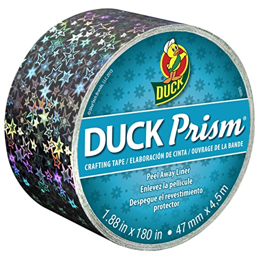 Duck Brand Prism Crafting Tape, 1.88-Inch x 5-Yard Roll, Small Stars (281623)