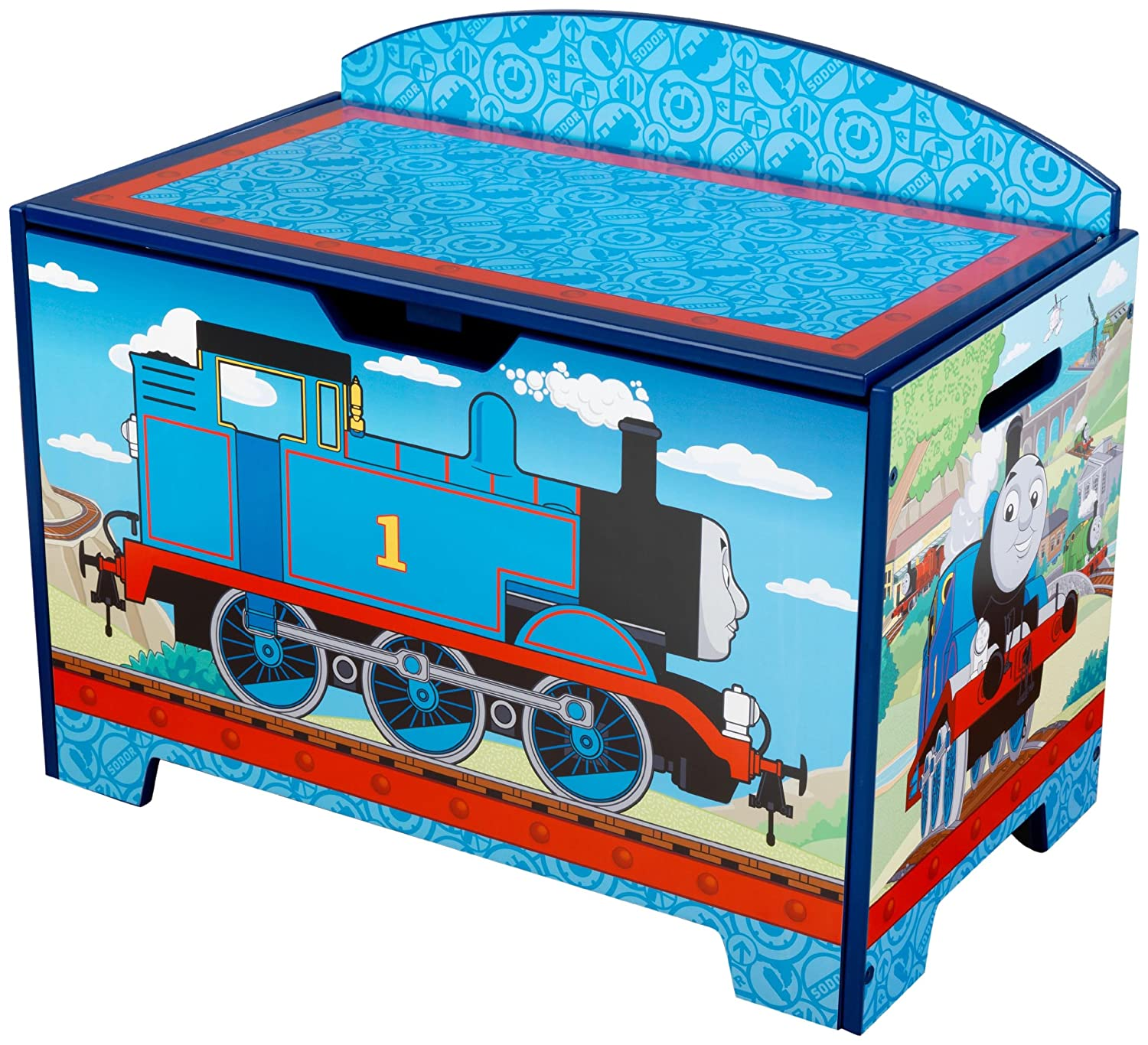 Childrens Jumbo Bedroom Room Tidy Toy Storage Chest Box Trunk: KidKraft Thomas And Friends Toy Box