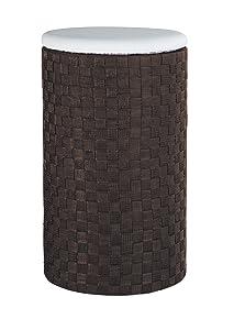 WENKO 18450100 Wäschetruhe Adria Dunkelbraun  mit Wäschesack, Kunststoff  Polypropylen, 35.5 x 59 x 35.5 cm, Dunkelbraun    Bewertungen
