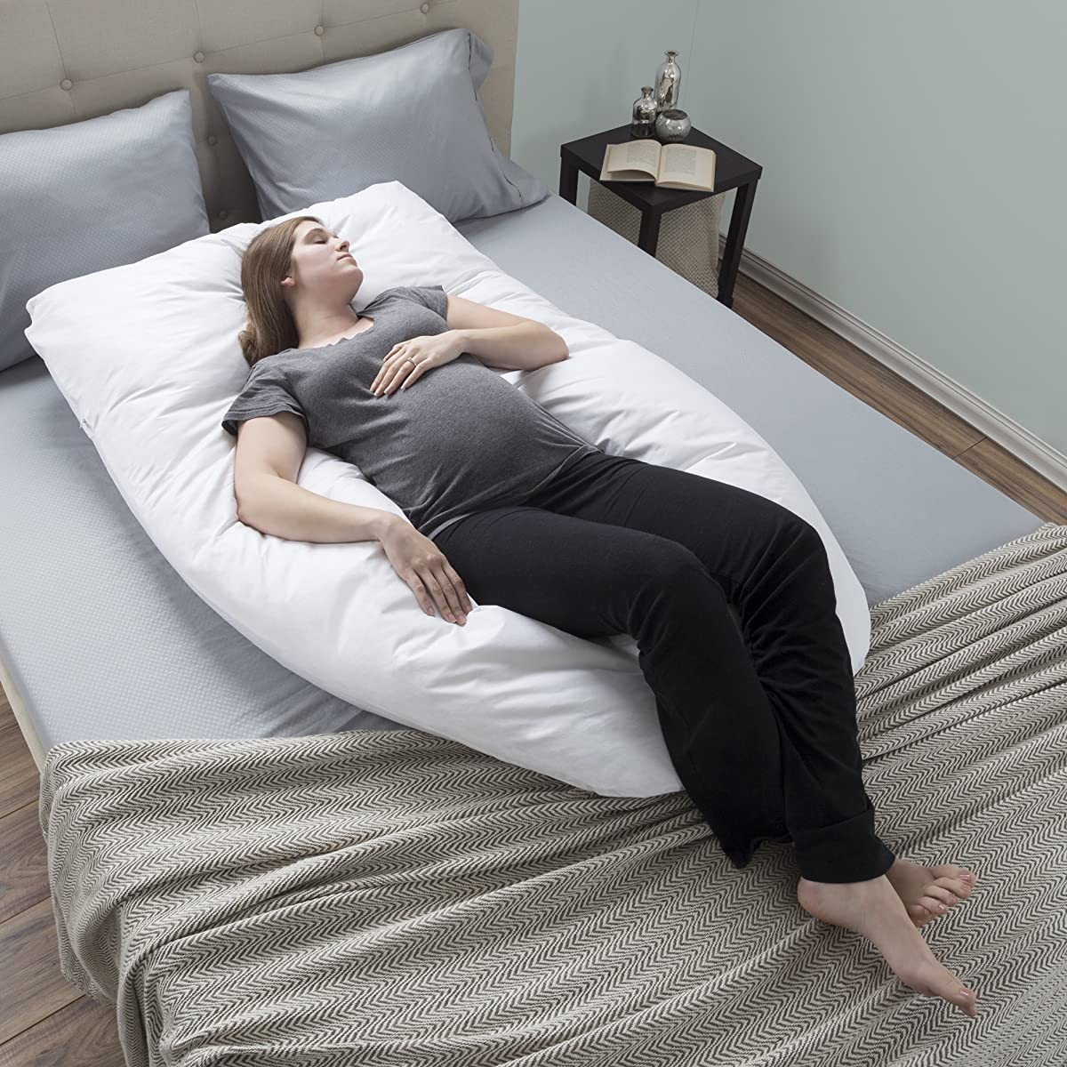 Pregnancy Pillow Full Body Maternity Pillow W Contoured