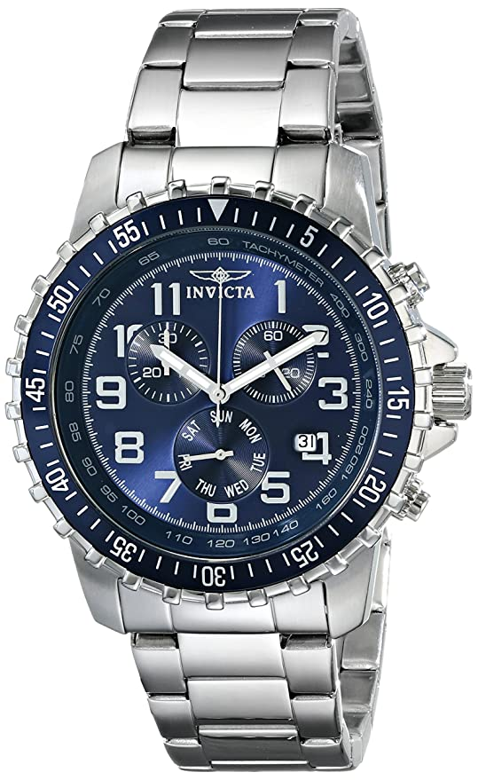 Stainless Steel Blue Dial Invicta Men's Watch