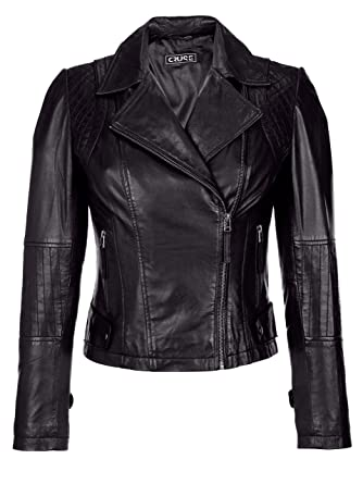 Damen Lederjacke in Bikeroptik by Cruse