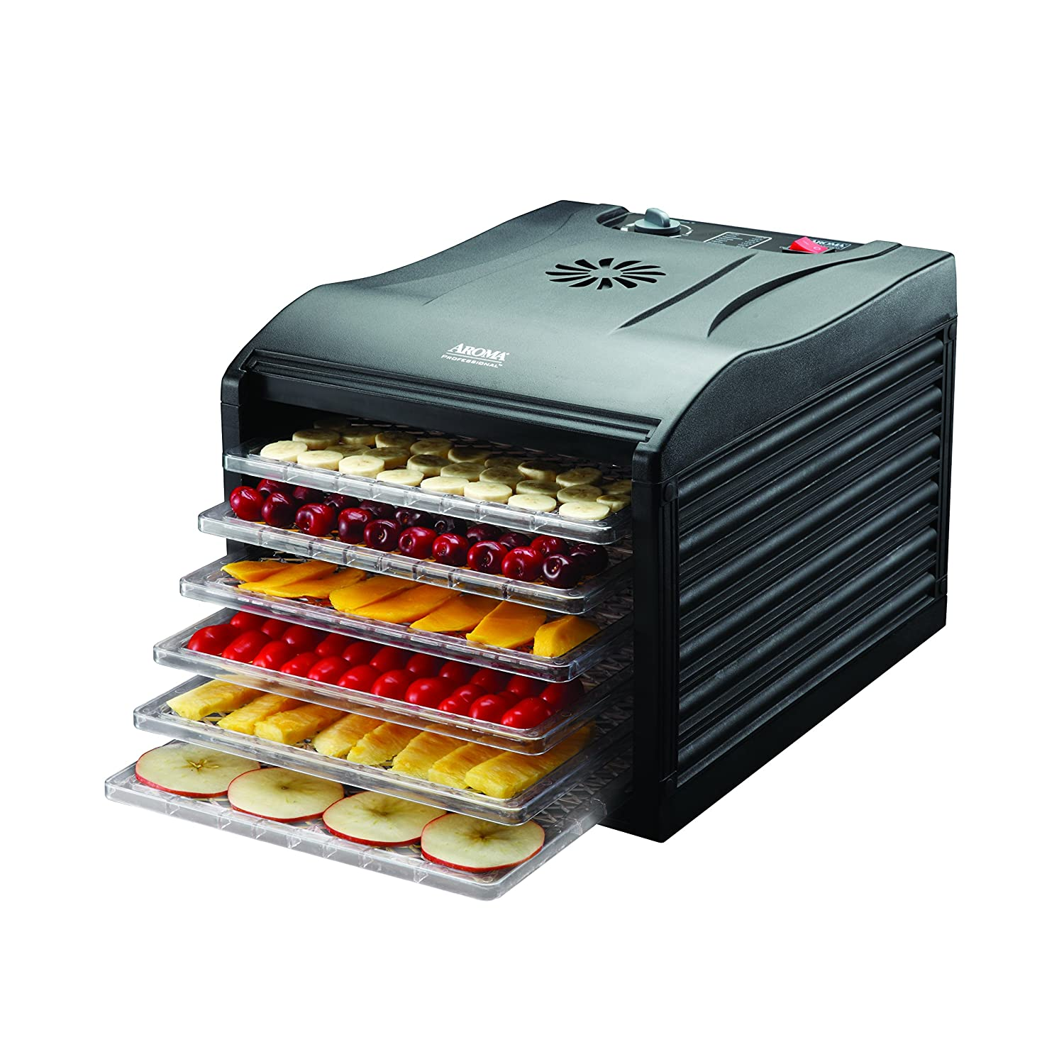 Great Aroma Professional 6 Tray Food Dehydrator, Black