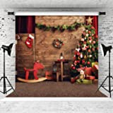 WOLADA 8x8ft Christmas Photography Backdrop for Children Christmas Tree and Gifts Photo Background 10788 (Color: 10788 8x8, Tamaño: 8x8)