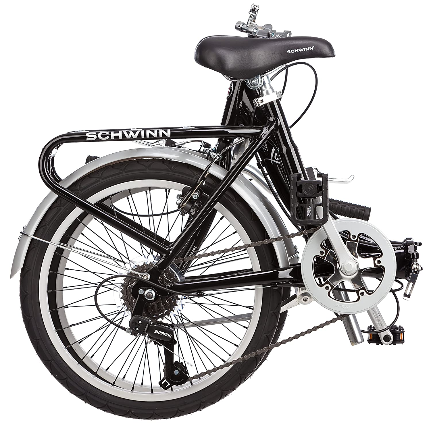 The Schwinn 20-inch Loop completely folded.