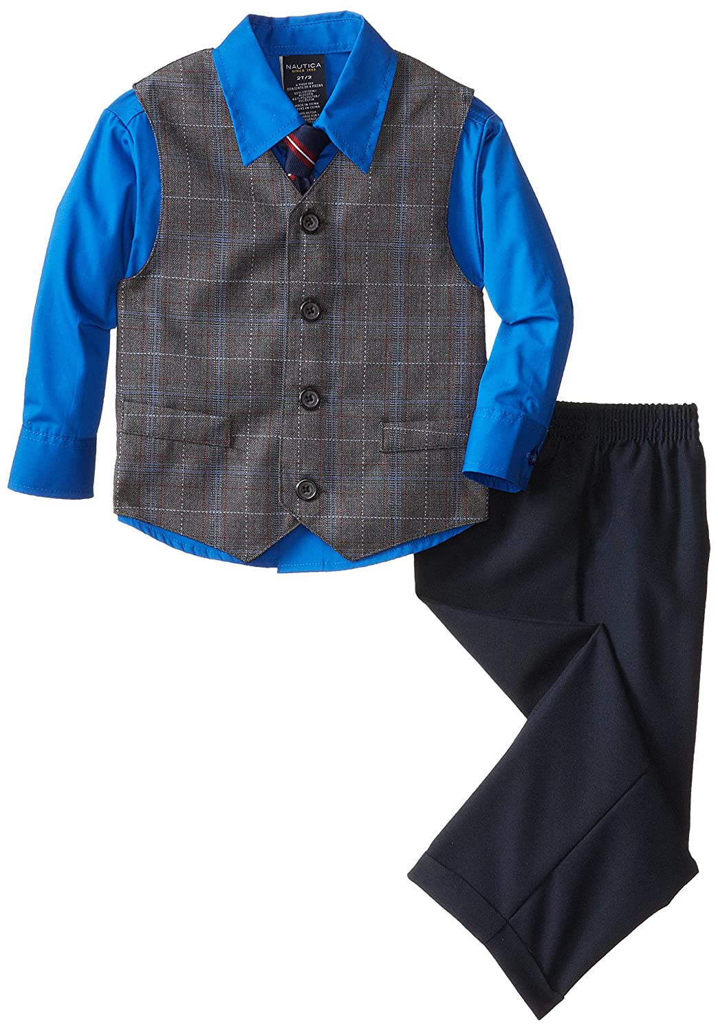 Nautica Little Boys' Four-Piece Plaid Dress Set