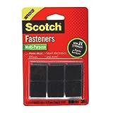 Scotch Multi-Purpose Fasteners, Black, 7/8 x 7/8 Inch, 12 Sets per Pack (RF7021)
