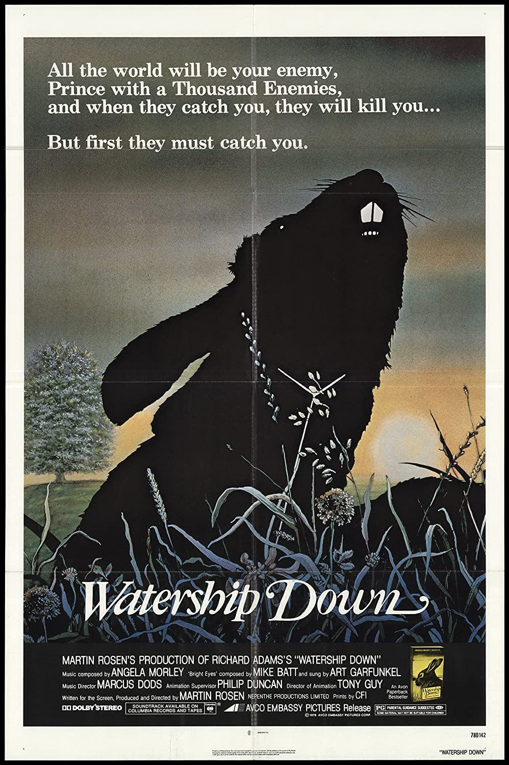Watership Down 1978 Original Poster 27x41