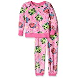 Shopkins Big Girls' Little 2-Piece Pajama Set, Pinkberry, 8 (Color: Pinkberry, Tamaño: 8)