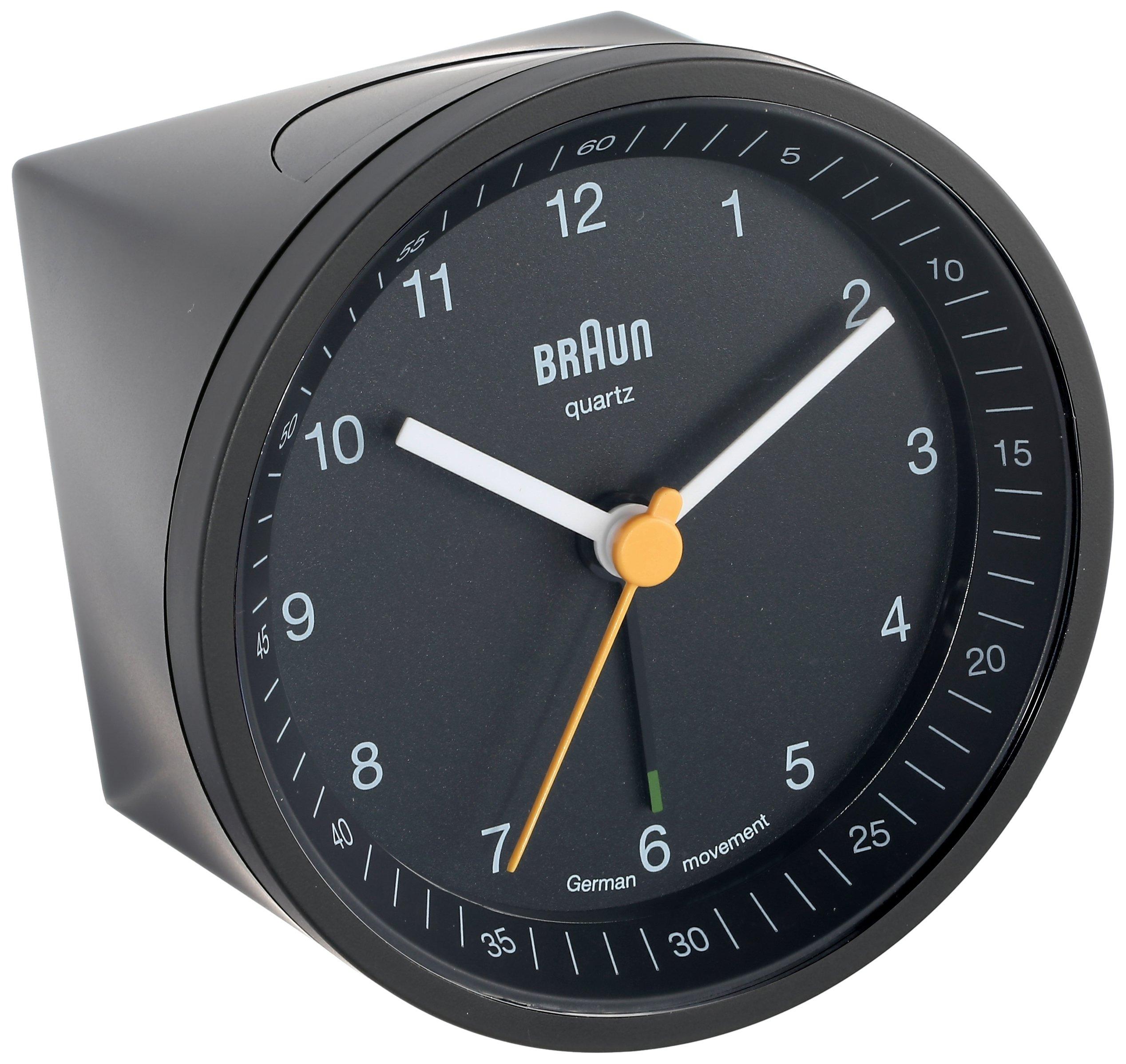 Braun BNC007BKBK Classic Light Analog Quartz Alarm Clock ...