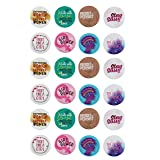 Pinback Buttons - 24-Pack Feminists Button Pins in 8 Designs for Girl Power, Empower Women Protests, 2.25 inches Diameter