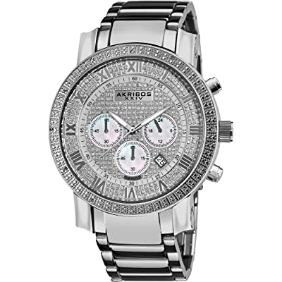 Akribos XXIV Men's AK439SS Grandiose Diamond Chronograph Watch