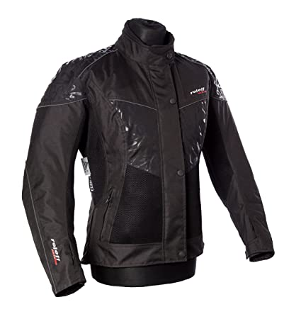 Roleff Racewear 15036 Veste Mesh Motorcycle Lady Messina, Noir, Taille XXL