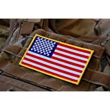 Large 3x5 Inch Color Tactical Us USA Flag (Hook/Loop) Patch