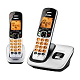 D1760-2 DECT 6.0 Expandable Cordless Phone with Caller ID, Silver, 2 Handsets