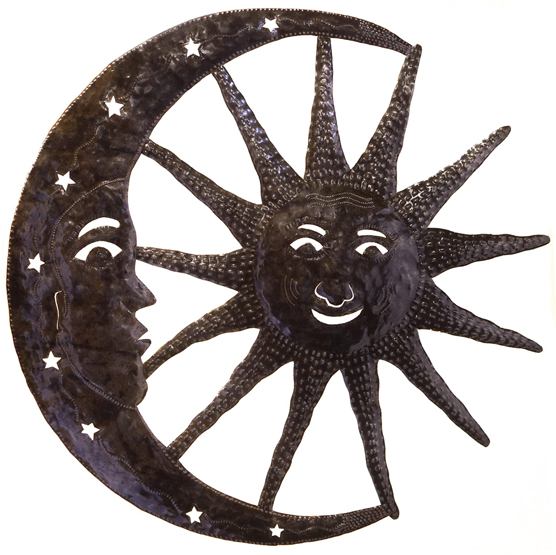 Sun Moon Metal Art Sun With Moon Metal Art Design For Walls