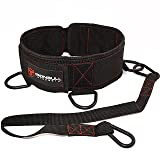 Iron Bull Strength Advanced Dip Belt - Dip Pullup Squat Multifunction Versatile Weight Belt for Lifting (Medium) (Tamaño: Medium)